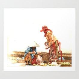 Atis Vendor Art Print