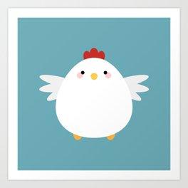 White Chicken Art Print