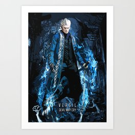 Vergil devil may cry sparda Art Print