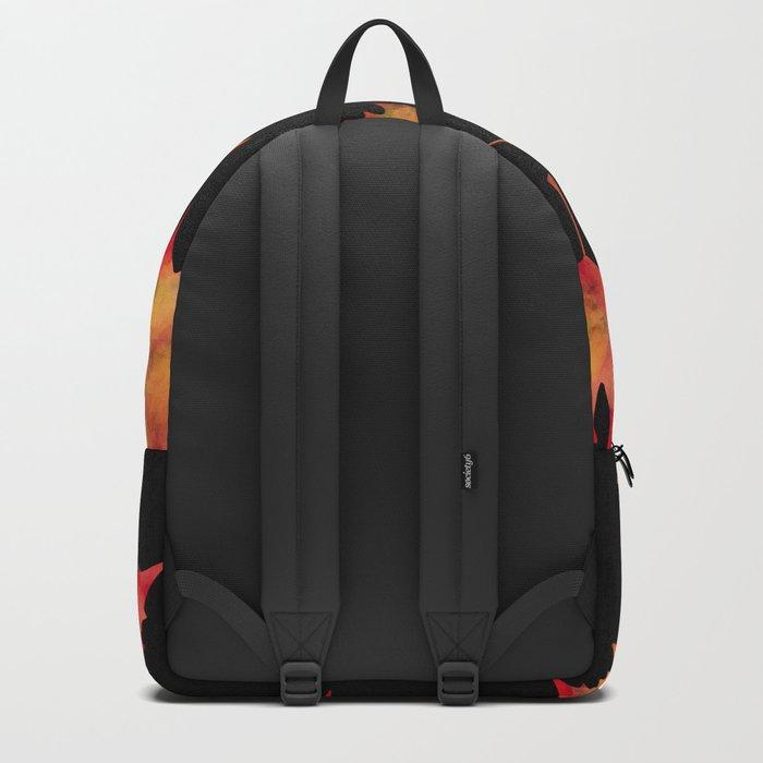 Maple leaves black Backpack