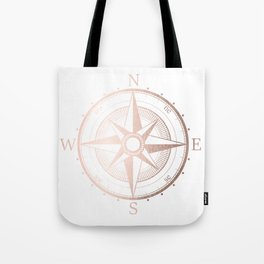 Rose Gold Compass Tote Bag