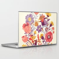 animal crew Laptop & iPad Skins featuring The Garden Crew by Teagan White