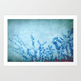 stylized and abstract blue Art Print