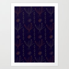 Purple Weeds Art Print