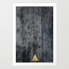 gOld triangle Art Print