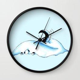 Snowbank Pup Wall Clock