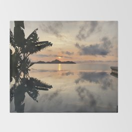Sunset over Water Throw Blanket