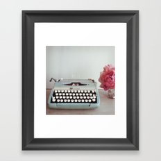 hello with text Framed Art Print