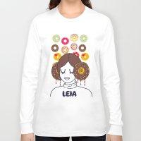 princess leia Long Sleeve T-shirts featuring Princess Donut Leia by afrancesado