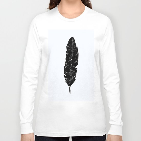 Constellation Feather Long Sleeve T-shirt