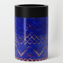 -A5- Royal Calm Blue Bohemian Moroccan Artwork. Can Cooler