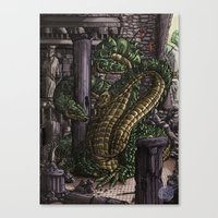 hydra Canvas Prints featuring Hydra  by Joseph Stansbury Illustration