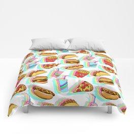 Rainbow Fast Food Comforters