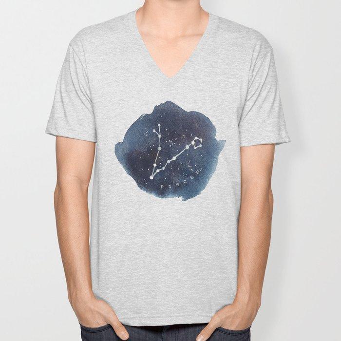 pisces constellation zodiac Unisex V-Neck