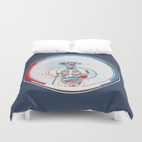 anatomy Duvet Covers featuring Anatomy by infloence