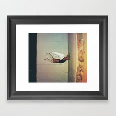 sometimes you hit a wall... get out a sledgehammer  Framed Art Print