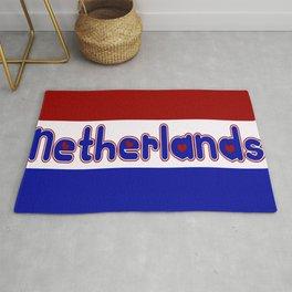 Netherlands Flag with Dutch Font Rug