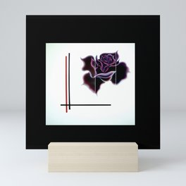 Abstract in perfection - Fertile Imagination Rose 5 Mini Art Print