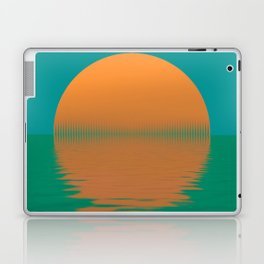 blue green sunset Laptop & iPad Skin