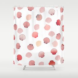 Coral shells Shower Curtain