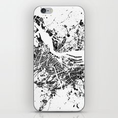 Amsterdam map iPhone & iPod Skin