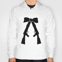 bow Hoodies featuring Bow by Panic Junkie