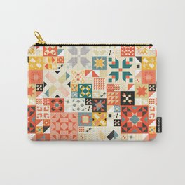 Modern Quilt Pattern Carry-All Pouch