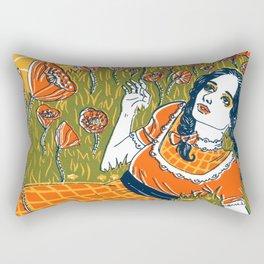 Dorothy in the Poppy Field Rectangular Pillow