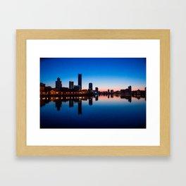 Night city Framed Art Print