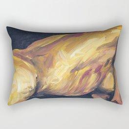 Musa en amarillo Rectangular Pillow