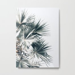 Left Palm Leaves Metal Print