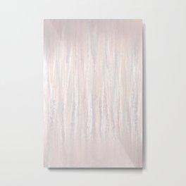 Abstract blush drips Metal Print
