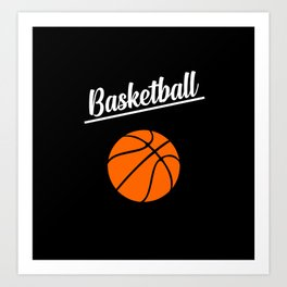 basketball sports design Art Print
