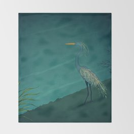 Camouflage: The Crane Throw Blanket