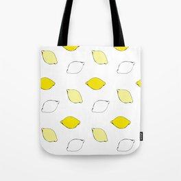 Giant Lemon Pattern Tote Bag