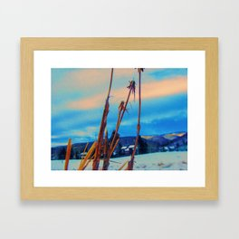 Colors In Tha Cold Framed Art Print