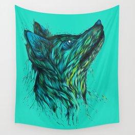 Sea Fox in Aqua Wall Tapestry