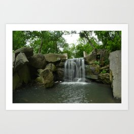 Central Park Waterfall Art Print