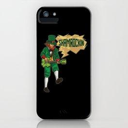 E-Guitar Playing Leprechaun - Shamrockin iPhone Case