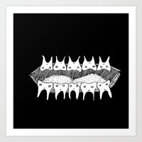 rooster teeth Art Prints featuring Teeth by Addison Karl