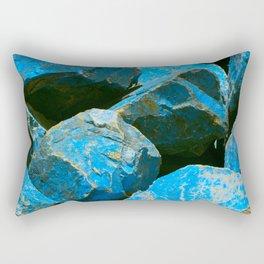 Azure Blue Boulders From Baja Peninsula, Mexico Rectangular Pillow
