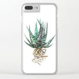 Haworthia Clear iPhone Case