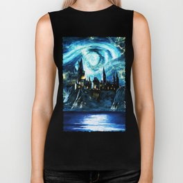 Starry Night Hogwarts Biker Tank