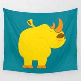 Happy rhino Wall Tapestry