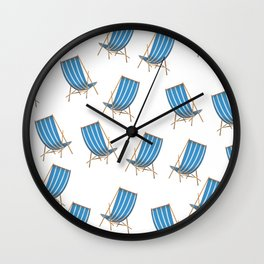 Deck Chairs Wall Clock