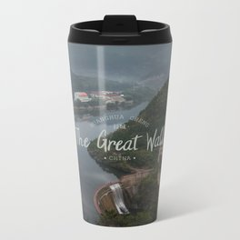 A different view of The Great Wall of China Metal Travel Mug