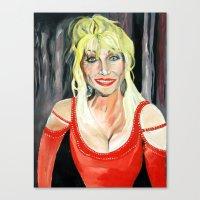 dolly parton Canvas Prints featuring Dolly Parton (serie) by MARTA BELTRAN