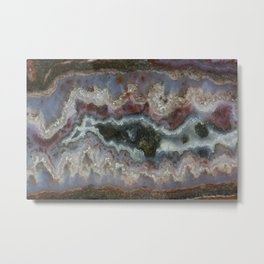 Cady Mountain Banded Agate Metal Print