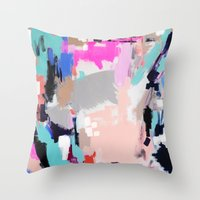 hollywood Throw Pillows featuring Hollywood by kristinesarleyart