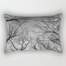 Flying branches, black and white Rectangular Pillow